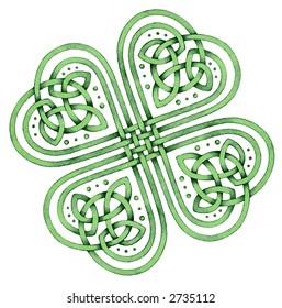 Celtic Shamrock - Many Blessings