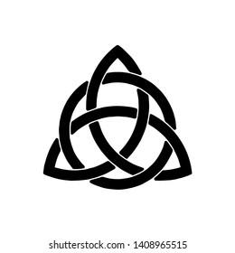 Celtic trinity knot. raster illustration