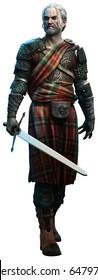 Celtic Warrior 3D illustration