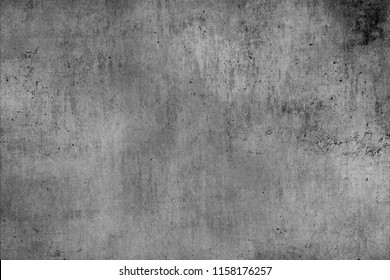 Cement wall in gray texture with black damage.