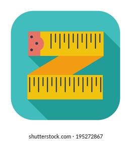 Centimetr. Single flat color icon.