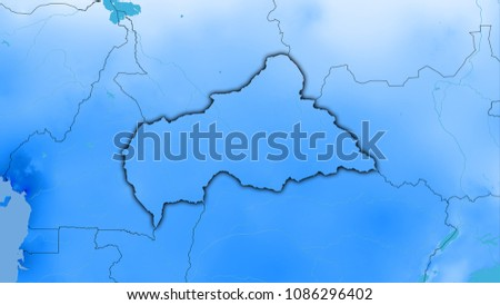 Central African Republic Area On Annual Stock Illustration