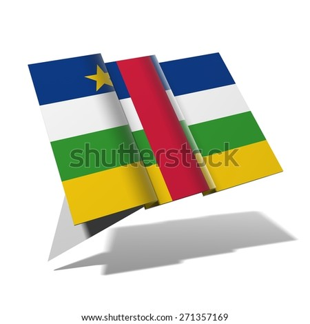 a96f4f45e66 Central African Republic Flag 3 D Banner Stock Illustration ...