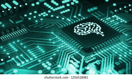 Central Computer Processors CPU concept, 3d rendering, Circuit board, Technology background, Motherboard digital chip, Tech science background, AI (artificial intelligence) concept, machine learning