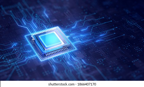 Central Computer Processors CPU concept - 3d rendering
