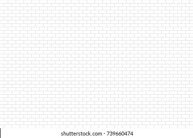 ceramic brick tile wall, White wall pattern for background.