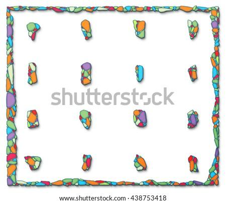 Ceramic Design Elements Frame Multicolor Mosaic Stock Illustration ...