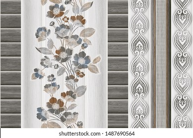 ceramic digital wall tiles decor design with grey, black, white colour combination and different pattern