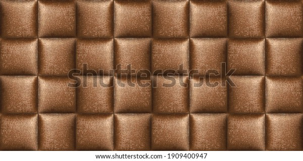 Ceramic digital wall tiles with leather checks wallpaper design