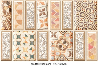 Ceramic kitchen, washroom tiles, wallpapers & backgrounds with rustic textures & marble.