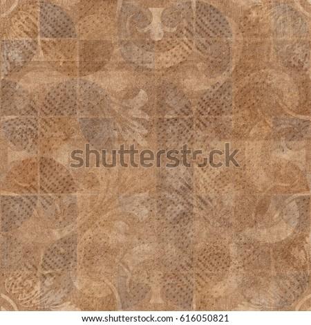 Ceramic Tiles Texture Pattern Background Stock Illustration