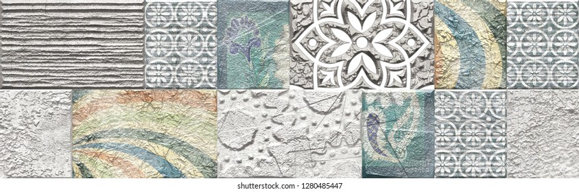 Ceramic wall digital tile designs patterns, background, textures & wallpapers