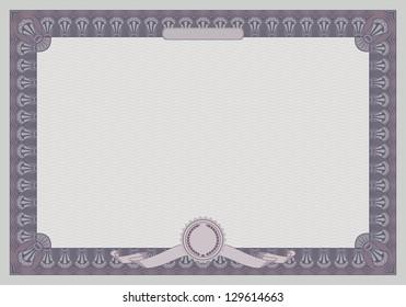 certificate frame template retro style raster version - Certificate Frame Template