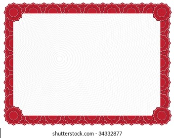 certificate red