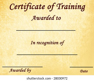 certificate training some stains on stock illustration 20596015