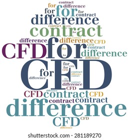 CFD. Contract for difference. Business abbreviation.