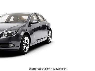 CG car, 3d car, render car of generic, car luxury, sport car, car isolated on a white background. 3d illutration car