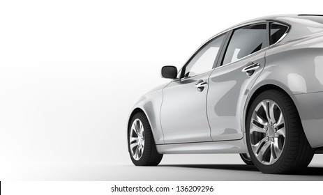 A CG render of a generic luxury sedan