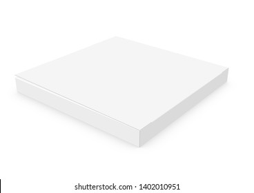 CGI 3d Blank empty white chocolate box mock-up on white background works with design simulation