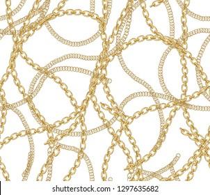 chain fashion fabric design