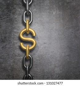 Chain link dollar