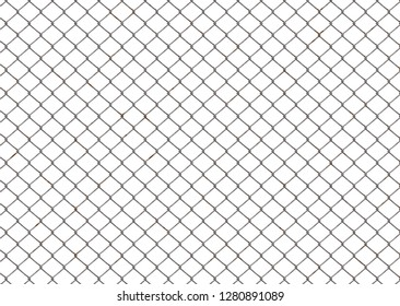 chain link fence on white 3d illustration 40x29cm 300dpi