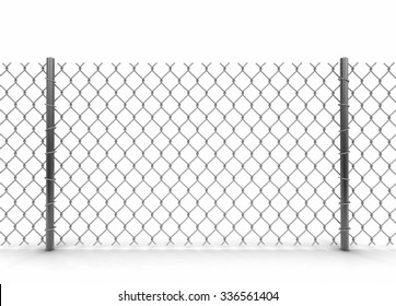 Chainlink fence. Image with clipping path