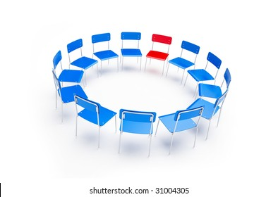 chairs to the circle