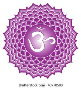 chakra series: sahasrara or crown chakra symbol