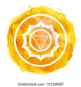 chakra symbol watercolor artistic illustration