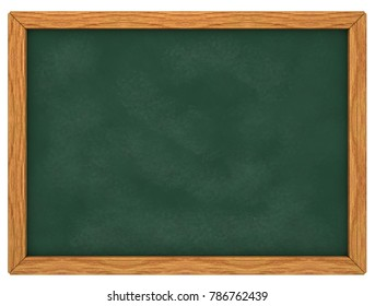 chalk board on white background - 3d illustration