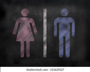 Chalkboard Gender sign in illustrative chalkboard style