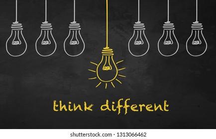 Chalkboard Light Bulb - Think Different