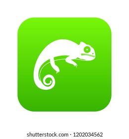 Chameleon icon digital green for any design isolated on white illustration