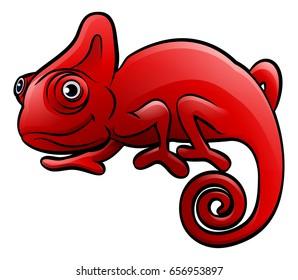 A chameleon lizard safari animals cartoon character