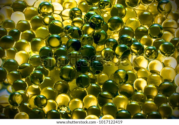 Champagne Golden Yellow Glass Marble Balls Stock