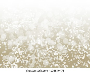 Champagne Sparkle Bokeh Background