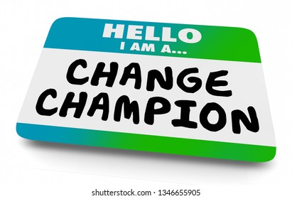 Change Champion Agent Name Tag 3d Illustration