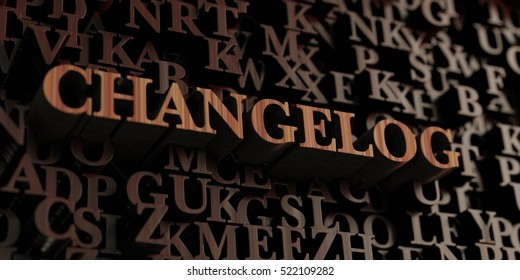 Changelog - Wooden 3D rendered letters/message.  Can be used for an online banner ad or a print postcard.