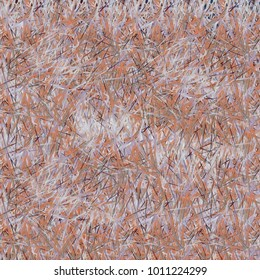 Chaotic brush mixed freehand strokes like savanna dry grass or animal fur. Distressed texture of natural colored fox, dog, cat, bear, wolf skin with fur.