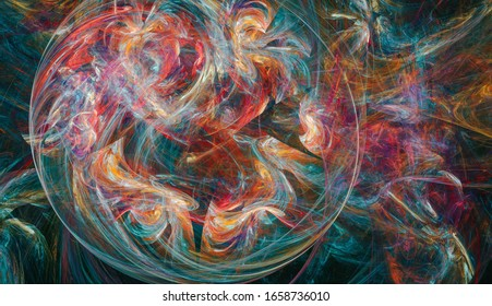 Chaotic mixture of various colors