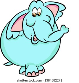 Character cartoon comic elefant illustration.