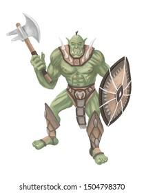 Character Fantasy. Huge green orc.