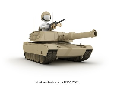 Character riding Tank