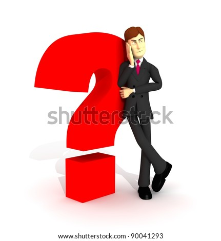Character Suit Lining Question Symbol Stock Illustration 90041293