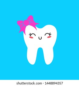 character of tooth fairy flat design