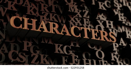 Characters - Wooden 3D rendered letters/message.  Can be used for an online banner ad or a print postcard.