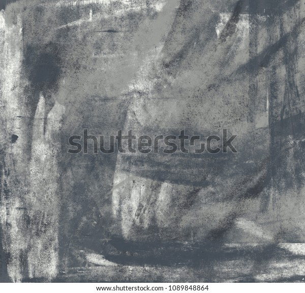 Charcoal Drawing On Paper Handmade Abstract Stock Illustration 1089848864