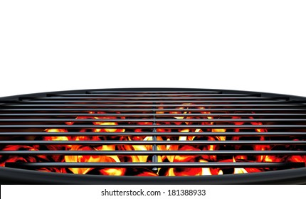 Charcoal Grill Close Up