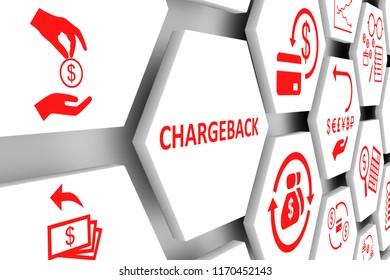 CHARGEBACK concept cell background 3d illustration